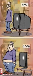 Evolution vom Mensch und Fernseher